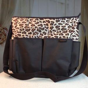 Carter's Brown Leopard Print Diaper Bag
